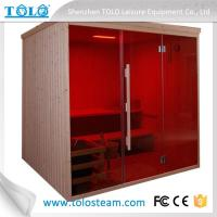 Buy cheap Traditional Sauna Cabins , Square Cedar Sauna Rooms For Home / Garden from wholesalers