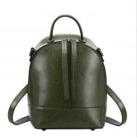 Buy cheap Vintage School Bag Cowhide Backpacks for Women Newest Genuine Cow Leather Double Shoulder Bags from wholesalers