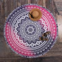 Buy cheap Small MOQ Custom Print 150CM Polyester Chiffon Voile Shawl Scarf round beach sarong from wholesalers