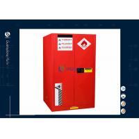 Buy cheap Red 60 Gallon Fireproof Chemical Cabinet , Metal Lockable Laboratory 860*860*1650mm from wholesalers