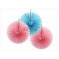 Buy cheap Colorful Handmade Tissue Paper Hanging Fans 20cm 30cm 40cm For Festival Activities from wholesalers