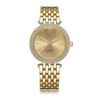 Buy cheap Special Luxury Brass Wrist Watch , 3 ATM Women'S Gold Watch With Diamonds from wholesalers
