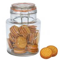 Capacity 1.5L glass food storage jars with lids / glass canister jars Promotiona