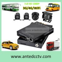 Buy cheap 4CH HD 1080P cameras 3G 4G SD card GPS WIFI Mobile DVR system for buses cars vehicles product