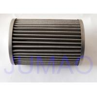 Buy cheap 316L Stainless Steel Pleated Filter Element For Gas Filtration / Oil Filtration from wholesalers