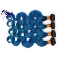 Buy cheap Virgin Brazilian Body Wave Hair Pretty Ombre Color Short Hair 1B / Blue from wholesalers