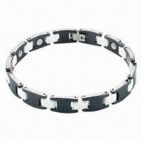 Buy cheap Bracelet, Made of Titanium and 316L Steel Materials, OEM/ODM Orders Welcomed product