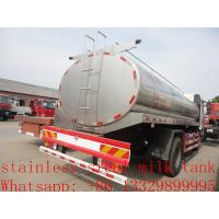Buy cheap FAW 4*2 13,000L stainless steel milk tank for sale, China supplier of factory sale best price fresh milk delivery truck from wholesalers