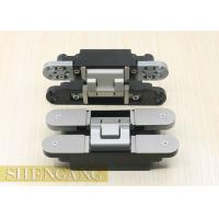 Buy cheap Swing Door Hidden Door Hinges Hardware 17.5mm Intermediate Gap Satin Nickel Coating from wholesalers