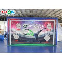Buy cheap PVC Tarpaulin Outdoor Shooting Door Inflatable Sports Games for Football Games from wholesalers