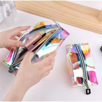Buy cheap Nylon Zipper PVC Cosmetic Pouch Non Toxic Customized Vivid Printing from wholesalers
