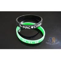 Buy cheap Interchangeable Custom Plastic Bracelets Promotional Silicone Bracelets 200 * 12 * 2mm from wholesalers