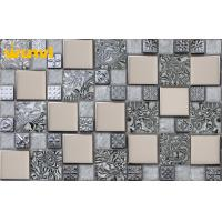 Buy cheap 6mm Thickness Silver Stainless Steel Glass Mosaic Tiles For Lobby Hotel from wholesalers
