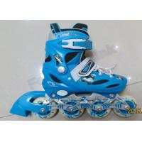 Buy cheap Blue Ladies Inline Roller Skates Indoor Outdoor Skating Equipment Skate Shoes with Wheels from wholesalers