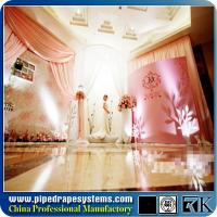 Buy cheap Pipe and drape for wedding decoration and church backdrop from wholesalers