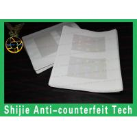 Buy cheap Supply RI hologram overlay for ID card for usa DHL express thick transparent from wholesalers