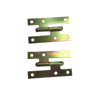 Buy cheap Yellow Zinc Plated MS 110x55 H Cabinet Hinges Flat Head Heavy Duty from wholesalers