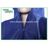Blue Breathable Disposable Tyvek Coveralls for Lab Room or Hospitals