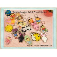 China Cartoon Custom Promotional Keychain , Acrylic / Plastic Key Ring on sale