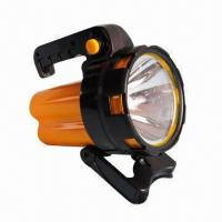 Buy cheap 19LEDs/1W Battery-operated Handheld Spotlight, Measures 16 x 12 x 18.5cm from wholesalers