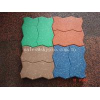 Buy cheap Interlocking Outdoor rubber paver support black / red / green / blue product