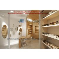 Buy cheap Maple wood Furniture in Wall Cabinets light color for Sunglass Store Display Fixture with Storage Drawers from wholesalers