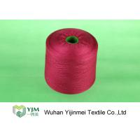 Sewing / Knitting Colorful Bright Polyester Yarn With Staple Short Fiber Material