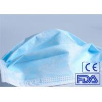 Buy cheap Anti Germs 3 Ply Disposable Medical Face Mask Breathable With Elastic Earloop product