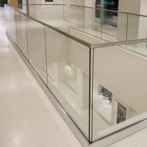 Buy cheap Glass rail simple deck railing in aluminum base shoe design product