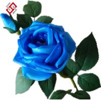 Buy cheap two heads artificial PU material high quality home decor long stem rose from wholesalers