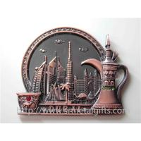 Buy cheap Custom metal fridge magnets, metal refrigerator magnetic stick, zinc alloy, bronze plated, from wholesalers