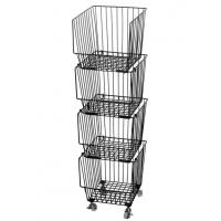 Buy cheap Galvanized Treatment Vegetable Display Rack  For Supermarket With Four Baskets from wholesalers