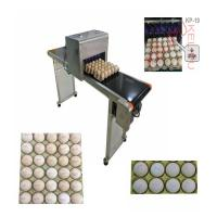 Convenient Transportation Egg Batch Number Printing Machine For Green Food Logo