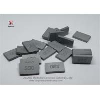 Buy cheap Indexable Tungsten Carbide Saw Tips , Thin Custom Carbide Inserts from wholesalers
