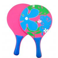Buy cheap eco-friendly children beach bat and ball game sets plastic PS PP transparent paddle rackets from wholesalers