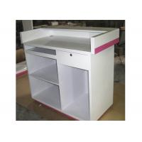 Buy cheap Modern Style Cash Wrap Counter With Drawer , White Retail Store Checkout Counters from wholesalers