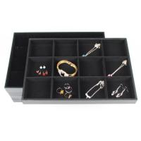 Buy cheap Black Velvet Jewelry Tray Bracelet Ring Necklace Earring Display Stand Rack Jewellery Holder from wholesalers