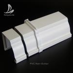 Buy cheap Rectangular PVC Rain water Guttes Factory Wholesale Price UV Resistant Plastic PVC roof rain gutter aluminum rain gutter from wholesalers