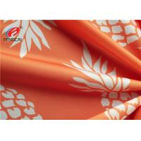 Buy cheap Pineapple Printed 95% Polyester 5% Spandex Fabric , Swimwear Lycra Knitted Fabric from wholesalers