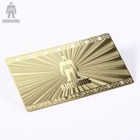 Buy cheap Innovative Brass Personal Metallic Gold Business Cards Different Pattern Option from wholesalers