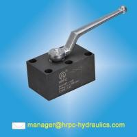 Buy cheap HRPC brand hydraulic pressure 315bar manifold mounted ball valves from wholesalers