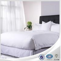 Buy cheap White Luxury Hotel Linen Bed Sheets , Embroidery King Size Bedding Sets from wholesalers