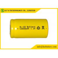 Buy cheap Customized Color NICD Nickel Cadmium Rechargeable Battery 1.2V C3000mah from wholesalers