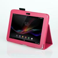 Buy cheap Rosy Folio 10.1 Inch Leather Case For Xperia Z Color , Lightweight Stand Covers from wholesalers