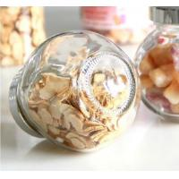 Buy cheap Glass storage jar with electroplating acrylie lid top Food Grade Glass Candy Jars small glass jar from wholesalers