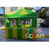 Buy cheap Green Inflatable Tents Playground Candy Floss Tent Popcorn House For Advertising from wholesalers