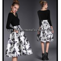 Buy cheap Beatiful bodycon knitting fabric blouse and skirt A9075 from wholesalers