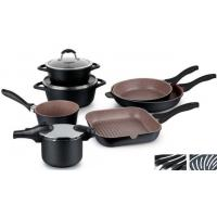 Buy cheap 2017 new die cast die-casting aluminum energy saving bottom casserole cookware set from wholesalers