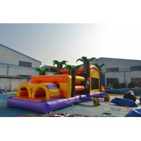 Buy cheap Funny Bounce House Obstacle Course 15oz Pvc Tarpaulin Indoor Use from wholesalers