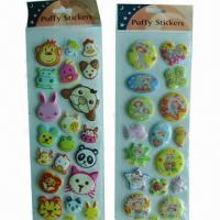 Buy cheap Puffy stickers, customized sizes, logo printings, materials and requirements are accepted product